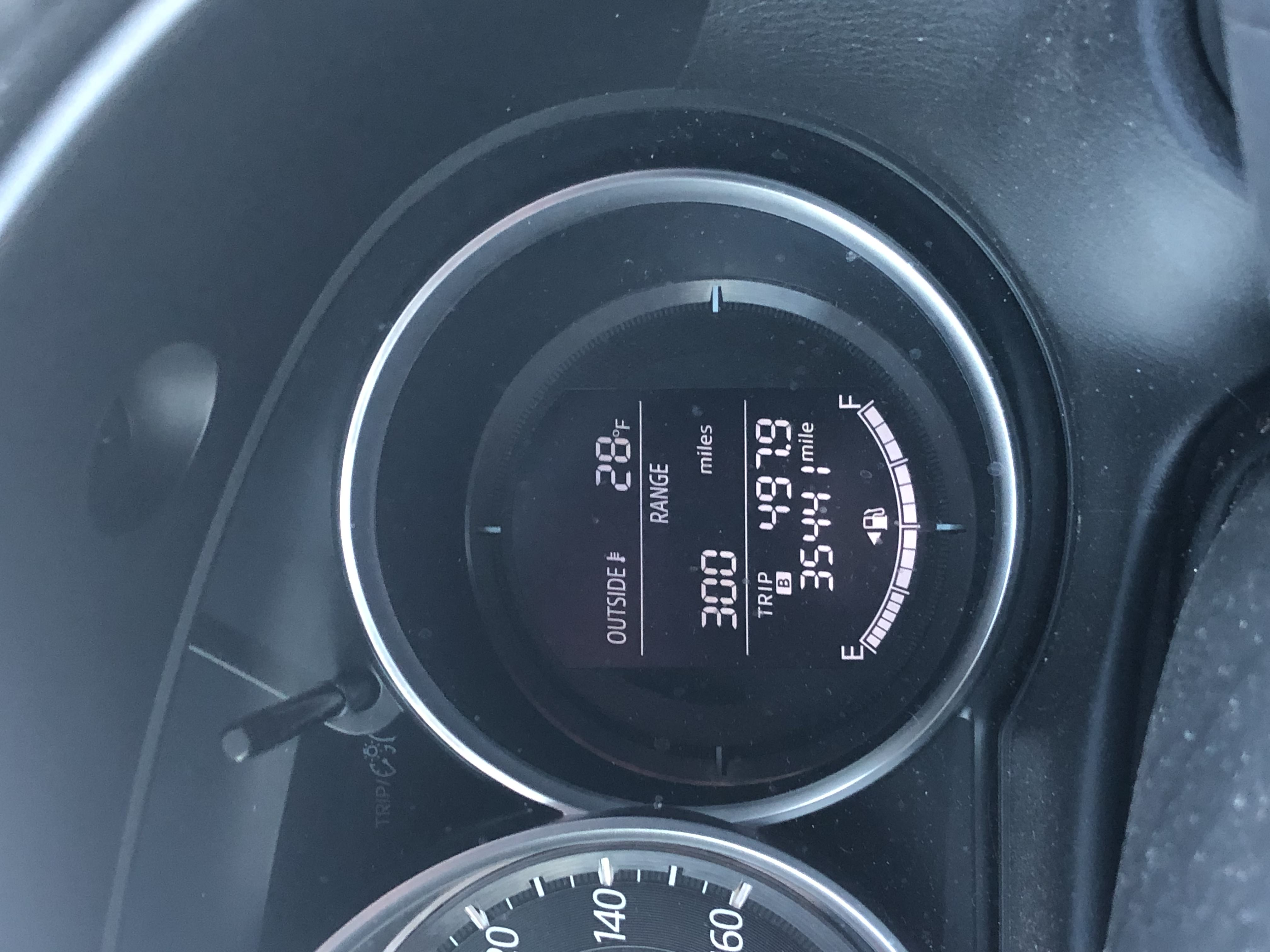 28 degrees around 7 am according to the car